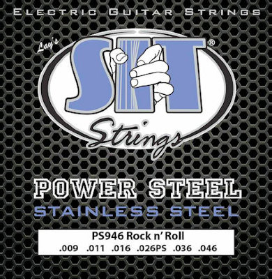 Струны для электрогитар S.I.T. Power Steel PS946, обмотка сталь, .009-.046