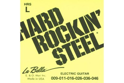 Струны для электрогитар La Bella Hard Rockin' Steel HRS L, сталь, обмотка никель, .009-.046