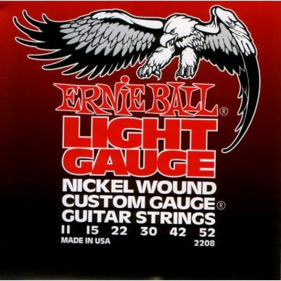 Струны для электрогитары ERNIE BALL 2208, .011-.052, Nickel wound