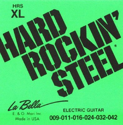 Струны для электрогитар La Bella Hard Rockin' Steel HRS XL, сталь, обмотка никель, .009-.042
