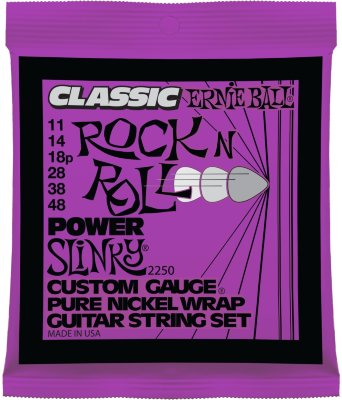 Струны для электрогитары ERNIE BALL 2250 .011-.048, Pure nickel