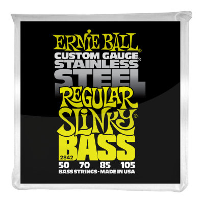 Струны для бас гитары ERNIE BALL 2842 .050-.105, Stainless Steel