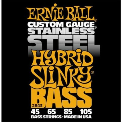Струны для бас гитары ERNIE BALL 2843 .045-.105, Stainless Steel